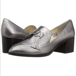 Marc Fisher Silver Phylicia Loafer Size 10